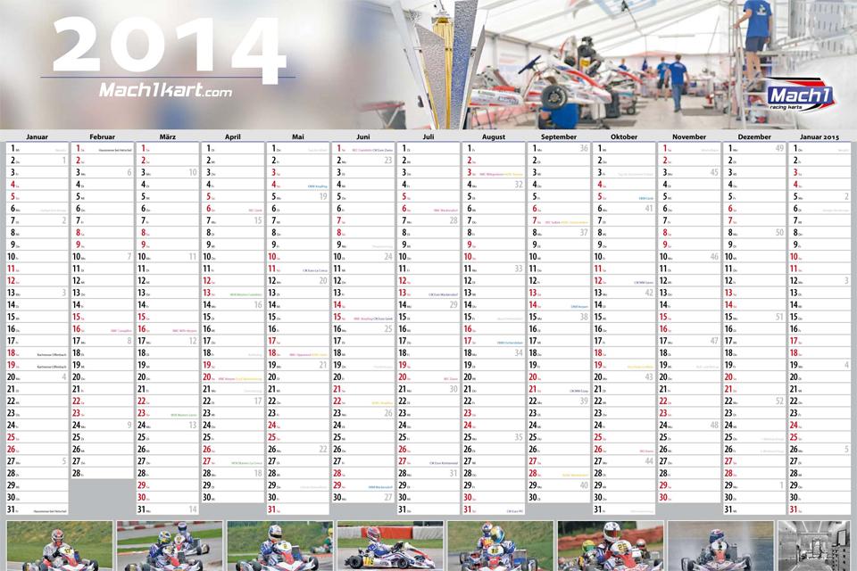 Mach1 Motorsport Hausmesse und Jahreskalender 2014