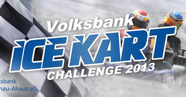 Superkart Team/Reifen Tanski startet beim Ice Kart-Rennen