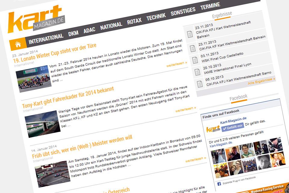 Schnell und einfach: Ihre News auf Kart-Magazin.de