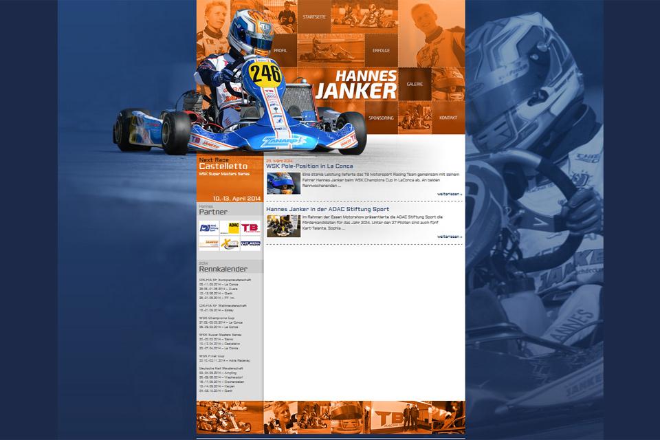 Neue Internetseite für Hannes Janker