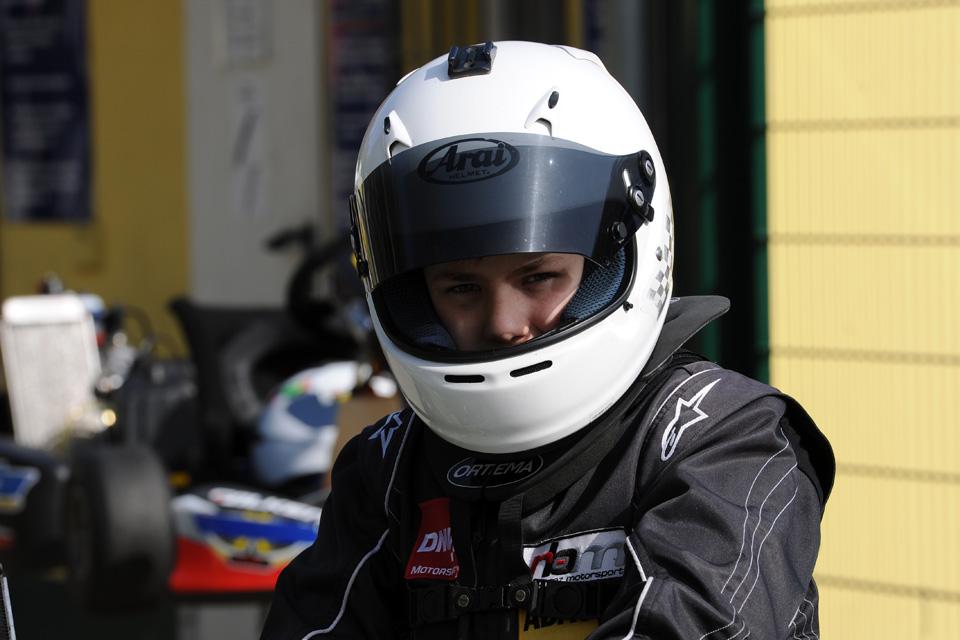 Erstes Rennen in Hahn für Jan Hendrik Heimbach im X30 Junior