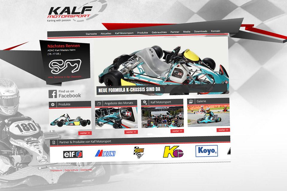 Neue Internetseite für Kalf Motorsport