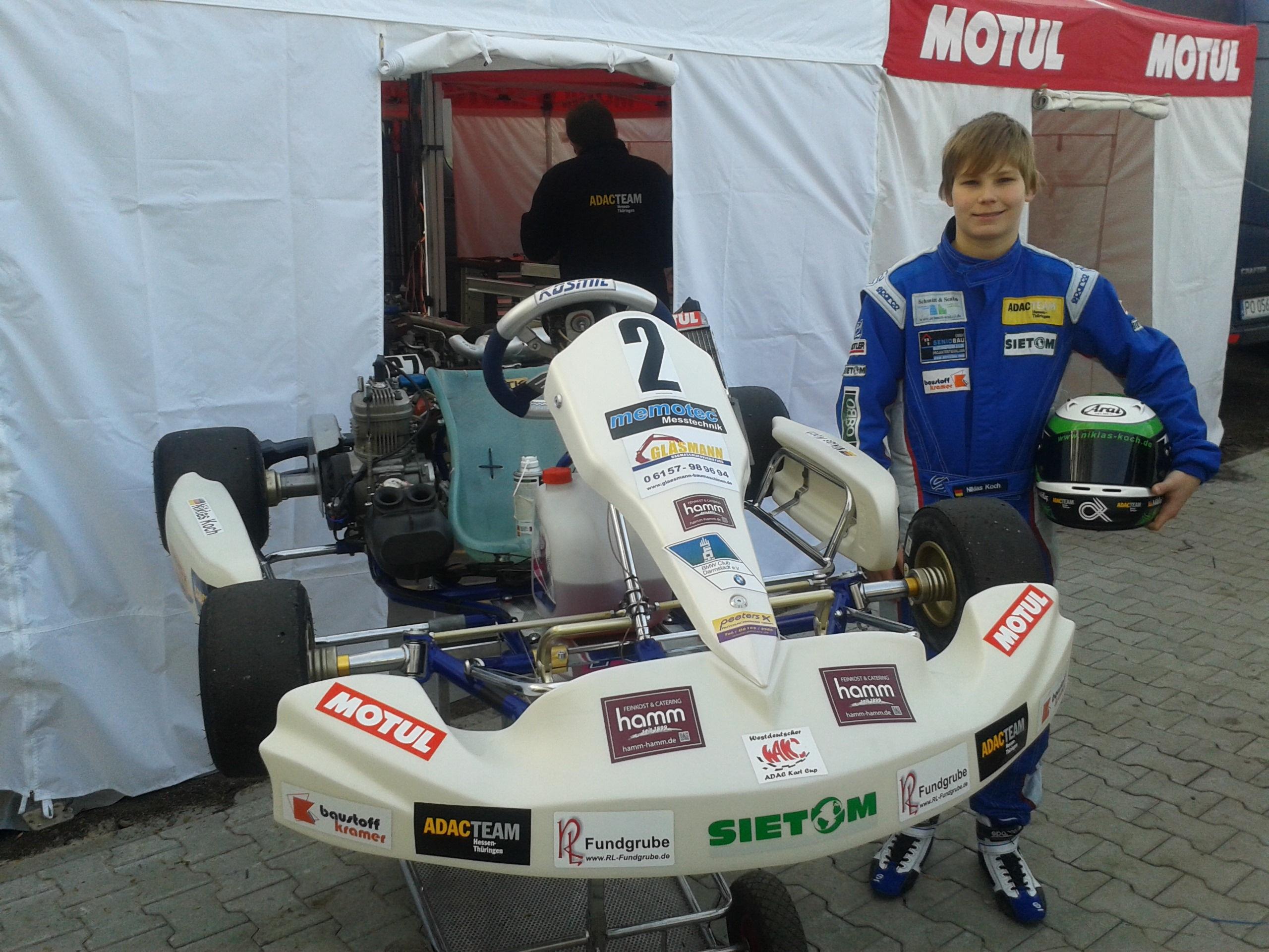 Platz drei für Niklas Koch im Rhein-Main Kart- Cup