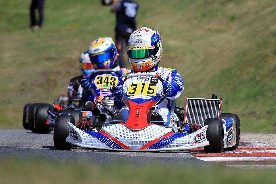 Mach1-Kart holt Platz zwei in der Europameisterschaft