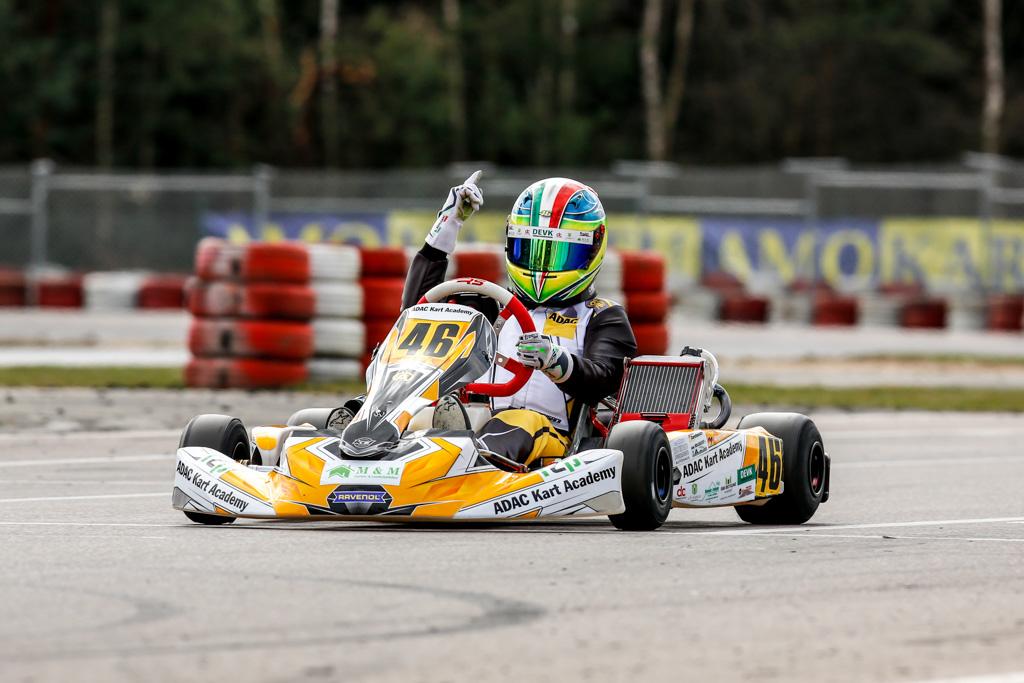 Dreifach-Sieg für Andrisani beim Auftakt der ADAC Kart Academy
