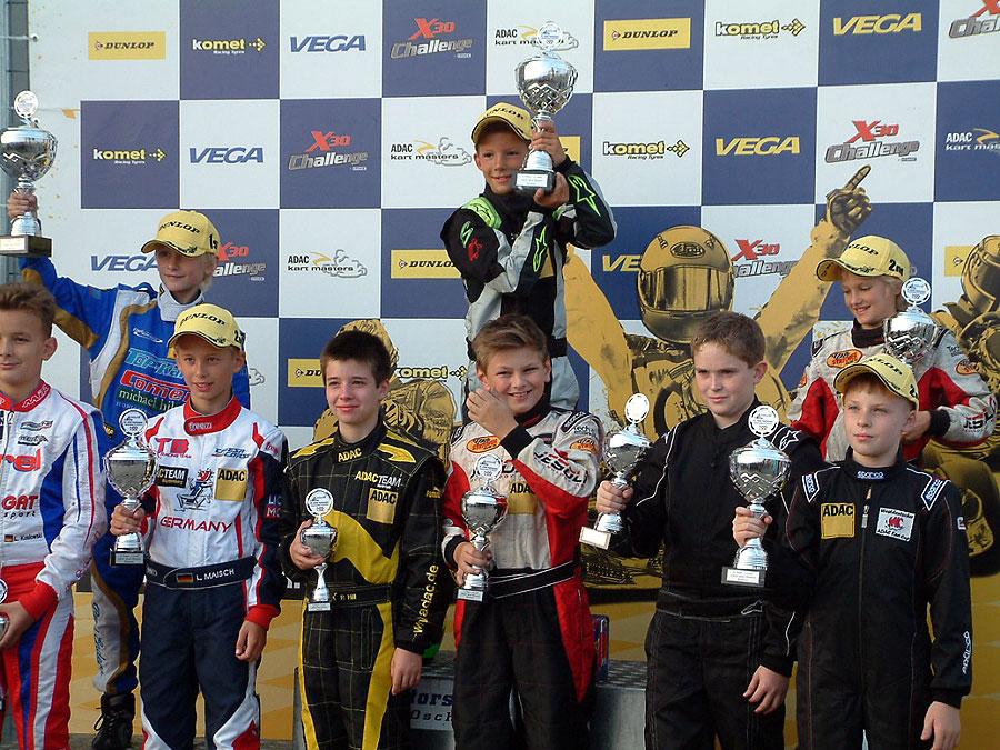 Sieg für Hugo Sasse bei den ADAC Kart Masters in Oschersleben