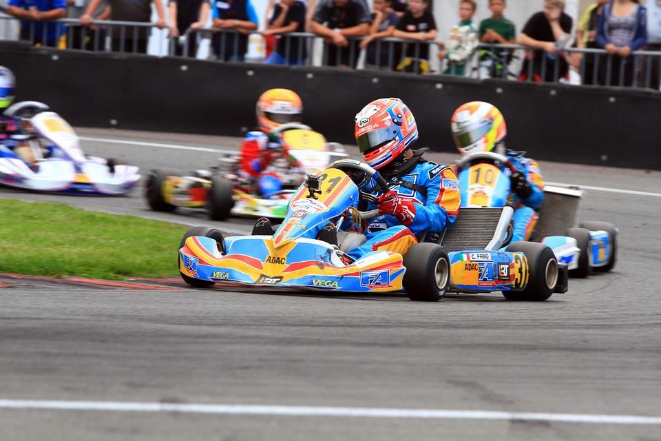Lanari Racing Team fährt auf ADAC Kart Masters-Podium