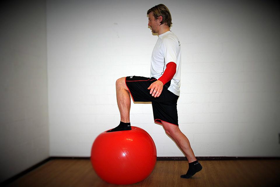 Fit im Advent: Swissball Step