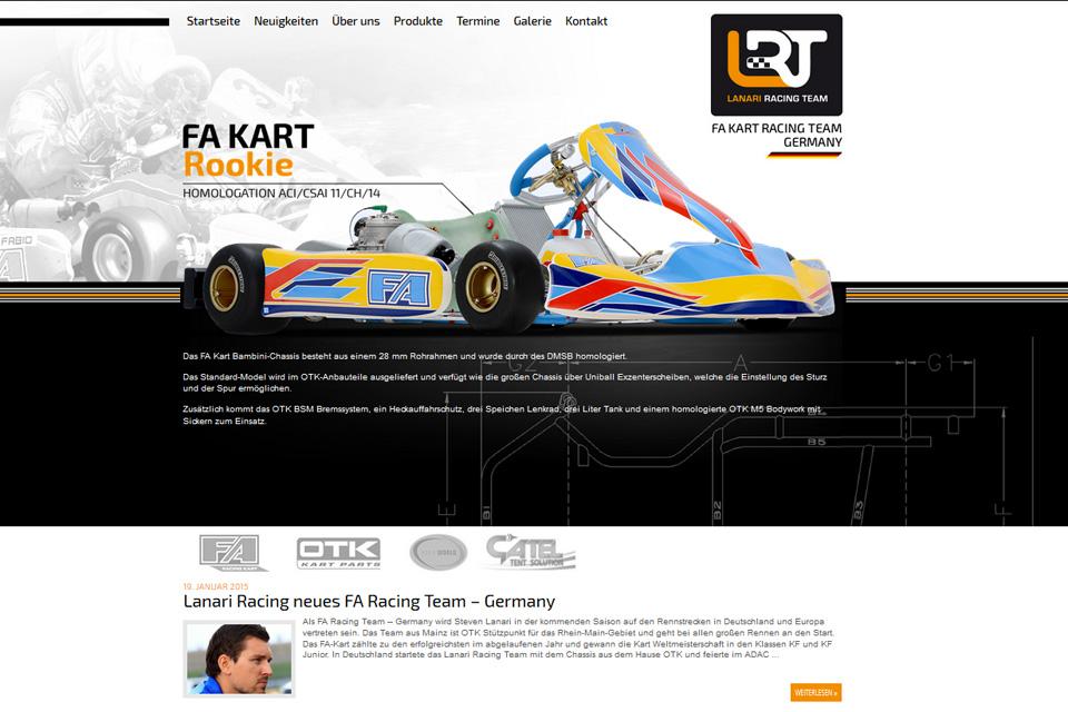 Neue Internetseite für Lanari Racing Team