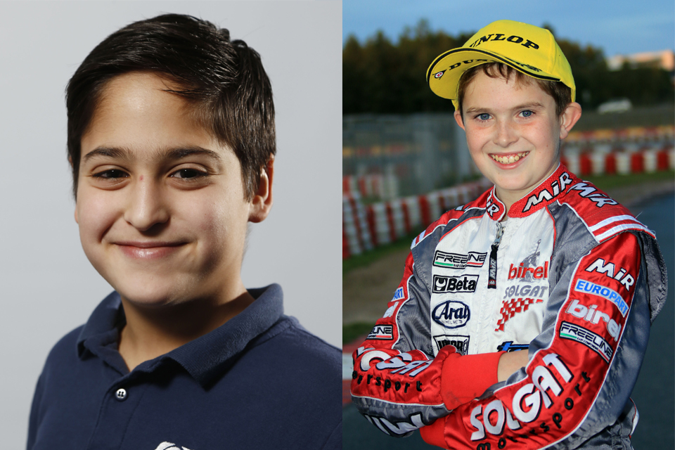 ADAC Kart Junior Team mit Keil und Ghattas