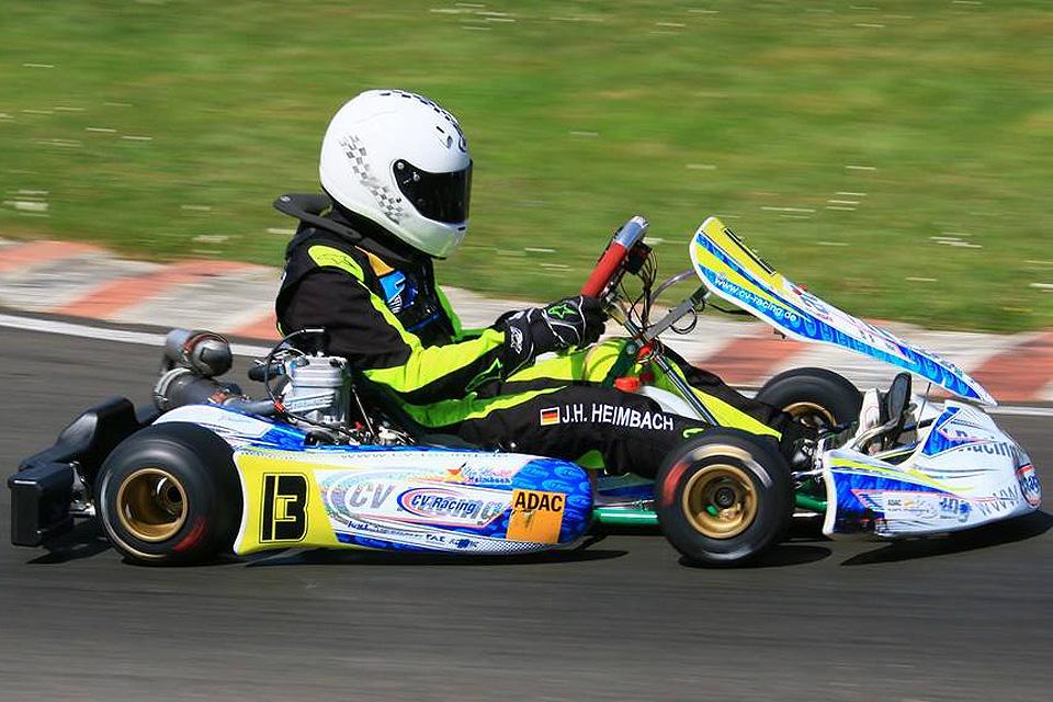 Jan Hendrik Heimbach fährt in die Top-Ten des ADAC Kart Masters