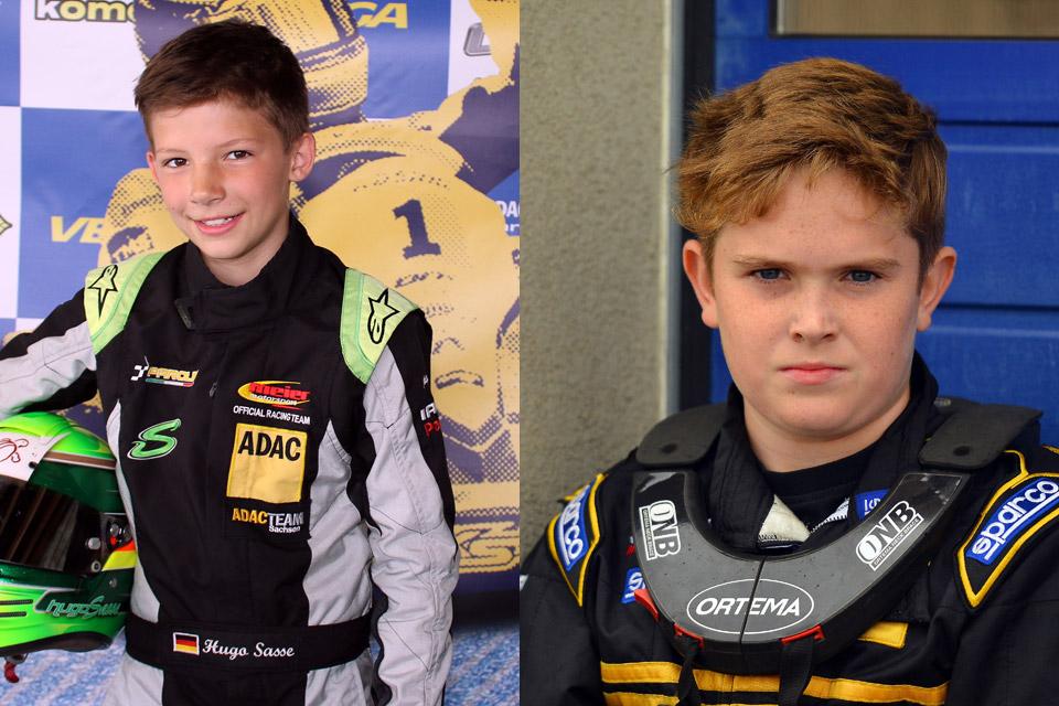 ADAC Kart Junior Team mit Sasse und Keil