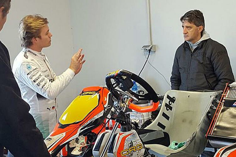 Nico Rosberg testet CRG-Kart in Adria