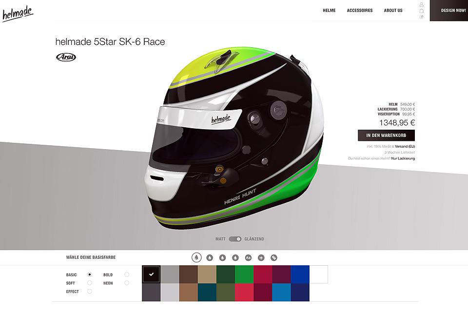 helmade mit Revolution beim Helmdesign