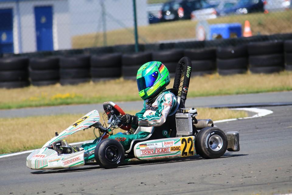 Tolle Aufholjagd von Nico Hantke beim ADAC Kart Masters