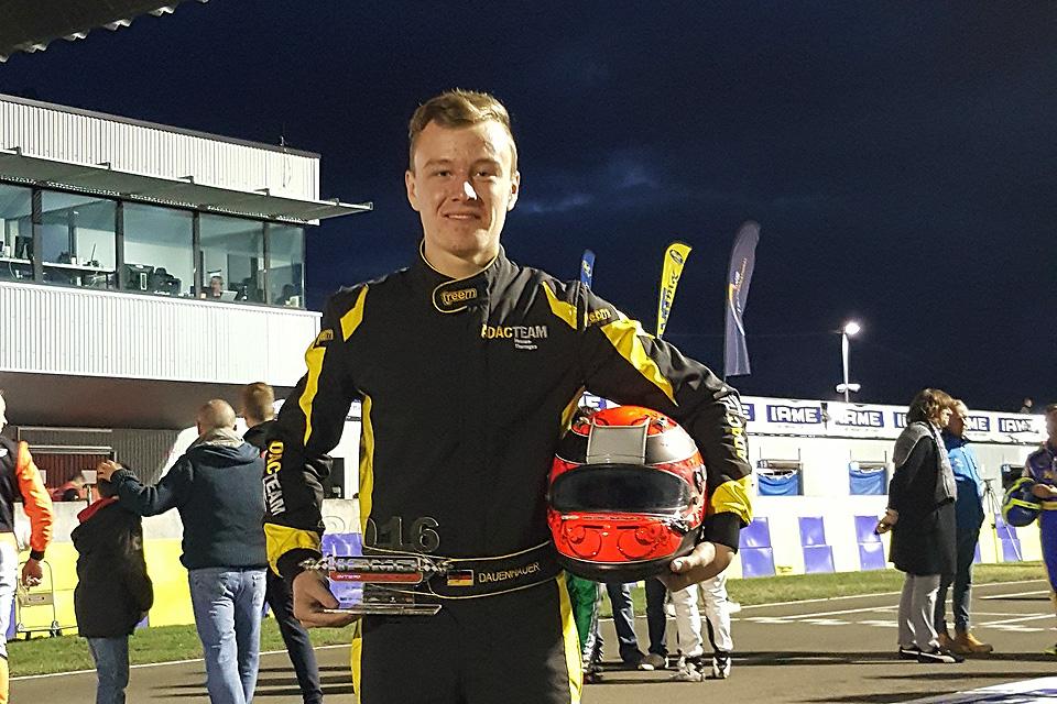 Dauenhauer beim IAME International Final in Le Mans gestartet