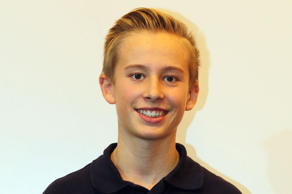 Junioren-Champion Luca Maisch in der ADAC Stiftung Sport