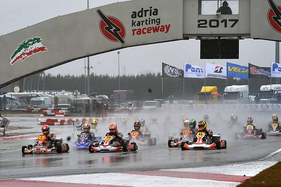 Wetterkapriolen bei WSK Super Master Series in Adria