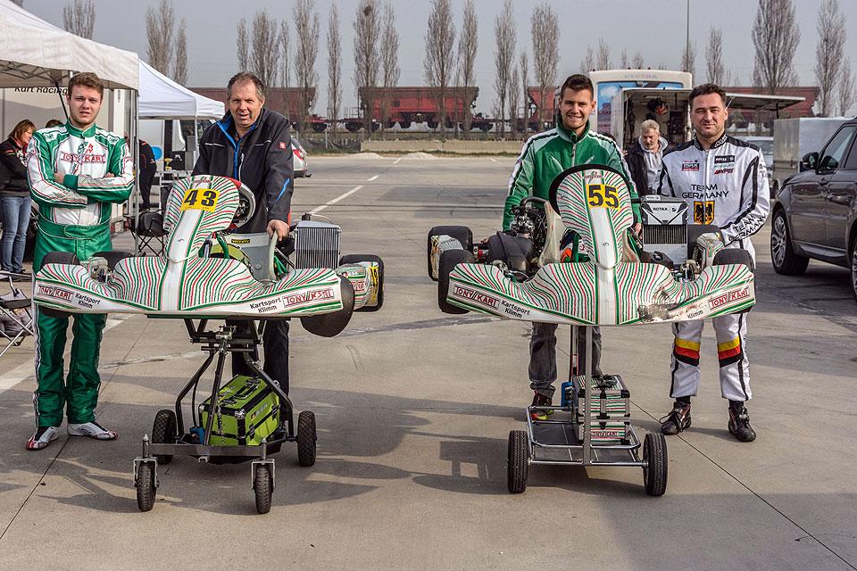 Team Kartsport-Klimm beim ersten Lauf der Central European ROTAX MAX Challenge