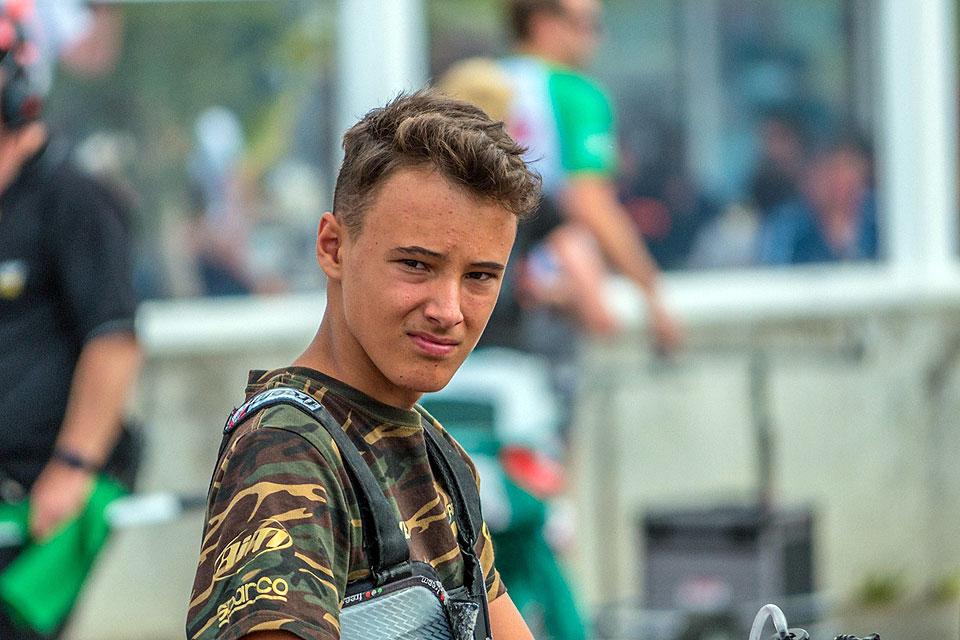 Emilien Denner trifft auf Kartsport-Elite
