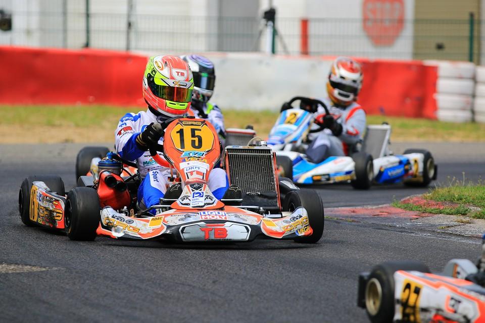 Luca Maisch etabliert sich beim ADAC Kart Masters an der Spitze