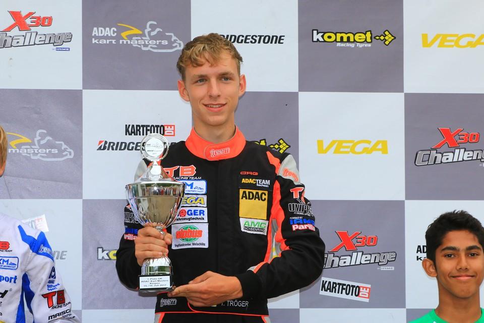 Meisterschaftsführung im ADAC Kart Masters übernommen: Tim Tröger