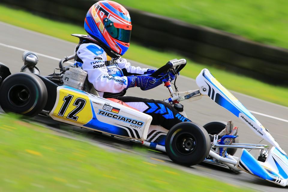 Rico Volz holt den nächsten Pokal im ADAC Kart Masters