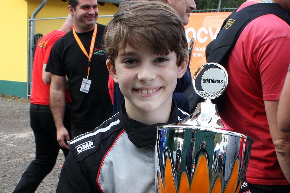 Valentin Kluss rast zu seinem zweiten Meistertitel