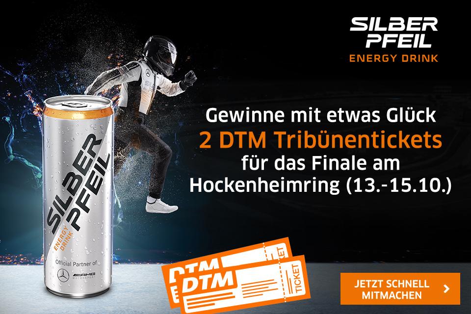 Verlosung: Mit Silberpfeil Energy zum DTM-Finale