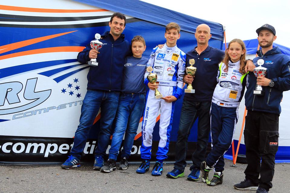RL-Competition gewinnt OK-Junior Meisterschaft im ADAC Kart Masters