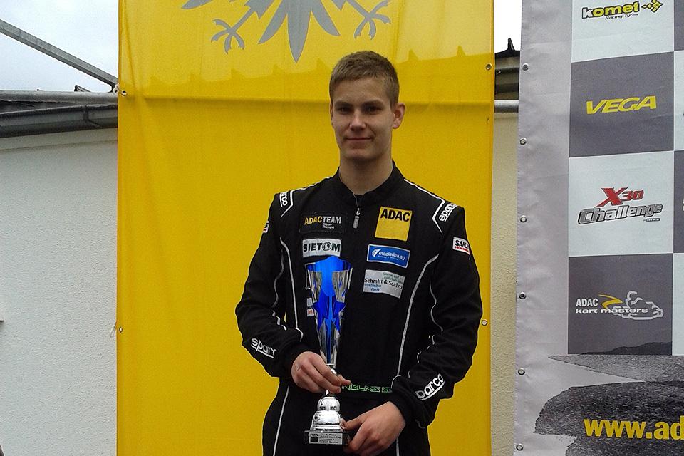 Niklas Koch erreicht Vizemeisterschaft beim ADAC Kart Cup