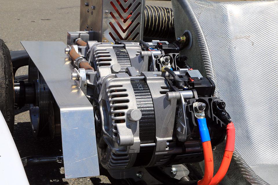 E-Rennmotor auf der 26.IKA-KART2000