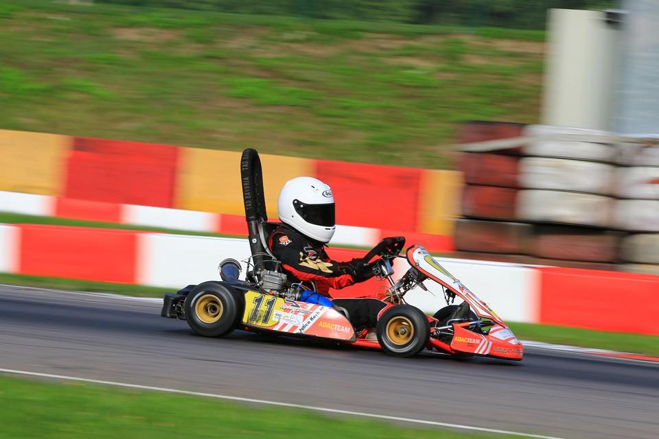 Julien Koch: Einer der Schnellsten beim ADAC Kart Masters
