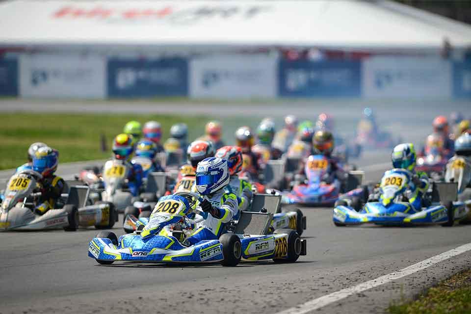 Aron und Stanek gewinnen Italian Kart Grand Prix