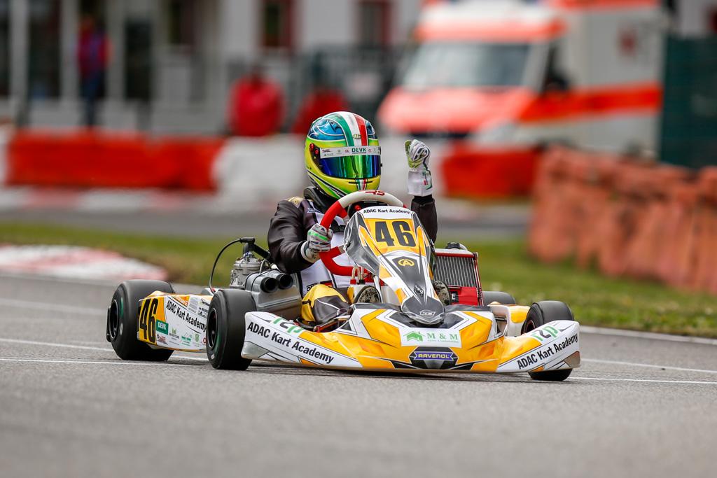 Gianni Andrisani holt nächsten Dreifachsieg in der ADAC Kart Academy