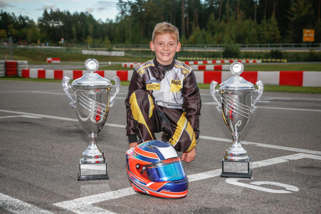 Finalsieg für Leon Bauchmüller in der ADAC Kart Academy