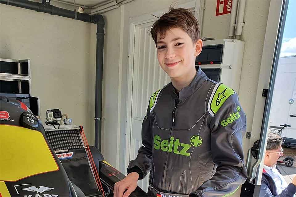 """KMSC """"Minis only""""-Champion Valentin Kluss testet OK-Junior-Kart"""