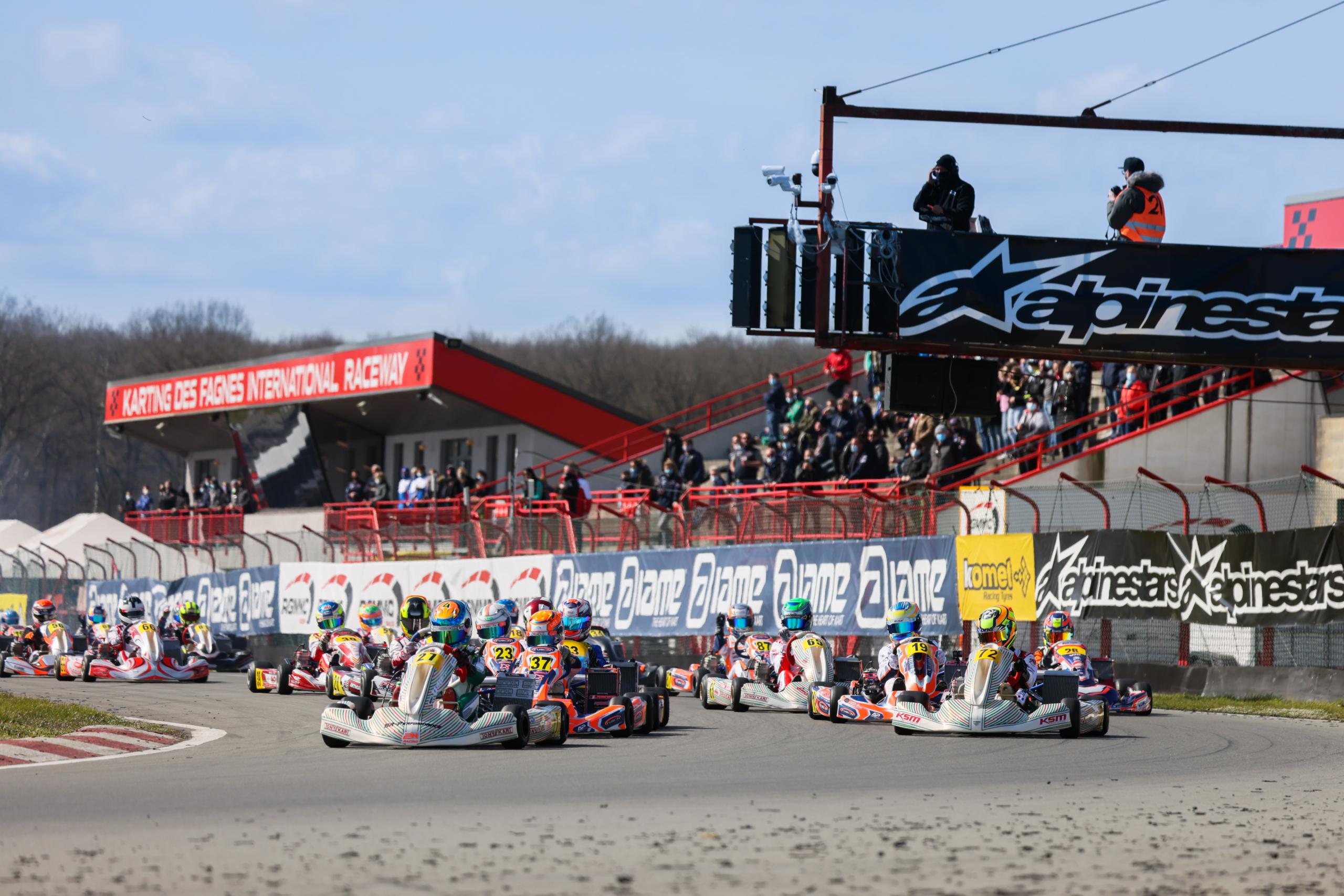 IAME Euro Series Mariembourg: Spannende Rennen zum Saisonstart